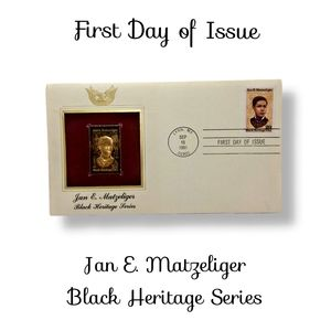 🔴15/$25. First Day Issue ~Jan E. Matzeliger Black